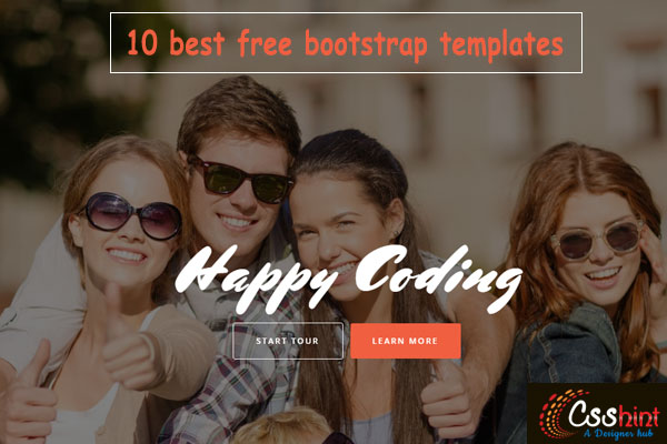 one page bootstrap templates