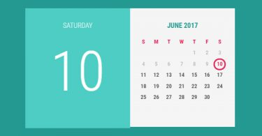 24+ Best html css and jquery calendars