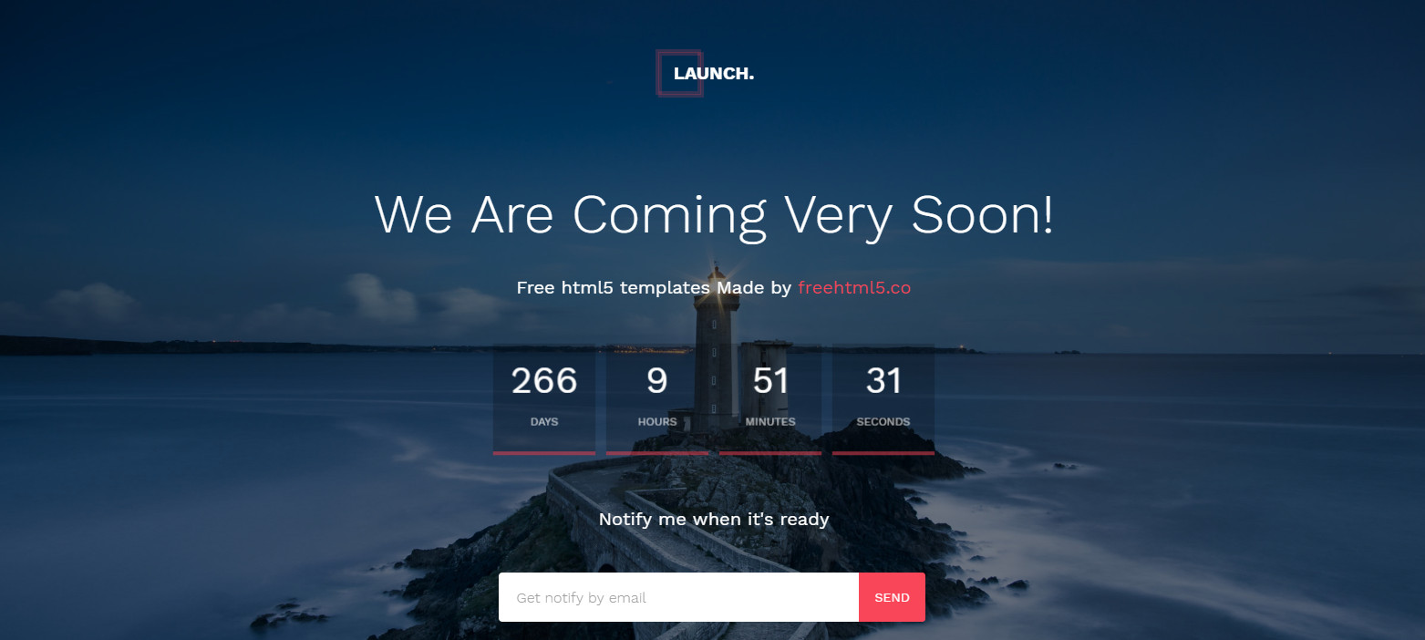 23 Free Under Construction And Coming Soon Html Website Templates Csshint A Designer Hub