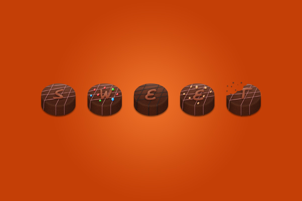 Chocolate Candies Text Effect