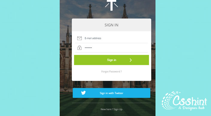Stylish HTML5 And CSS3 Login Forms