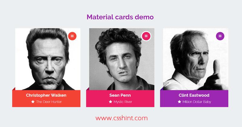 material design card UI