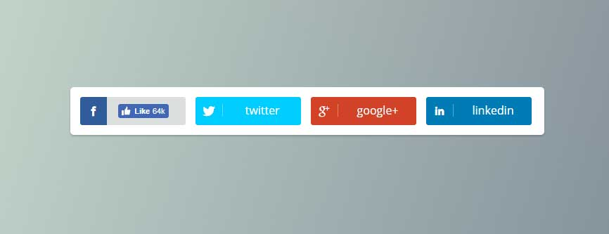 CSS3 Hover Effects Social Icons