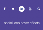 how to create social media icons with hover effects