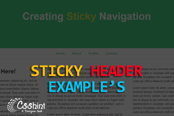 Best sticky header example's for your next projects