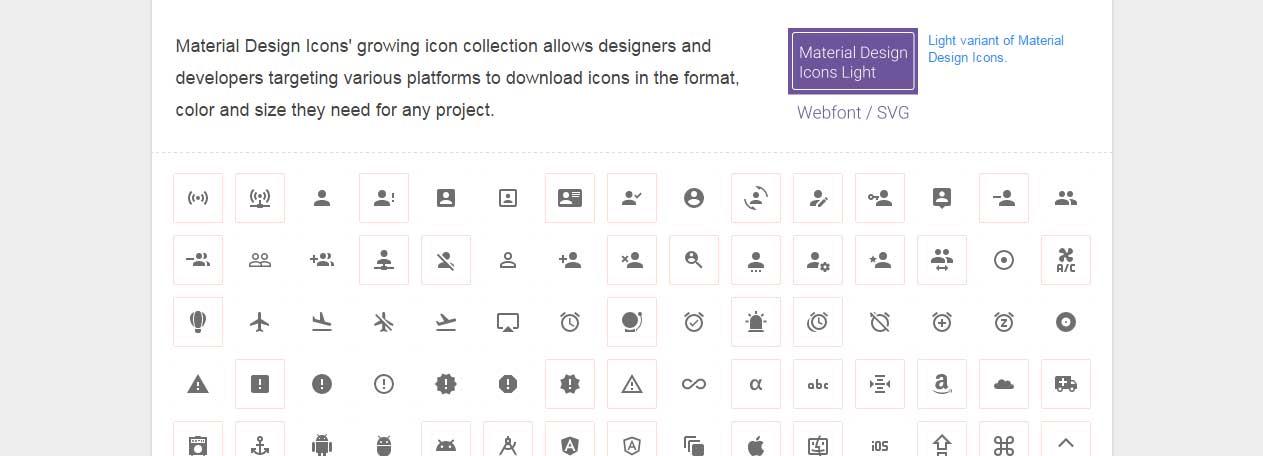 material-design icons