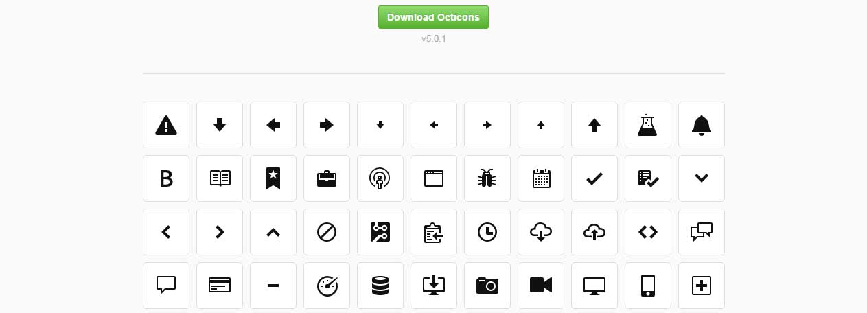 octicons icons