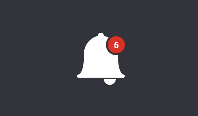 CSS Notification Bell Icon