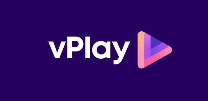 vPlay Logo Design